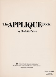 Cover of: The applique book. | Charlotte Patera