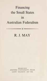Cover of: Financing the small states in Australian federalism
