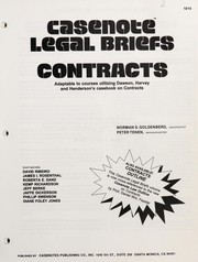 Cover of: Casenote legal briefs