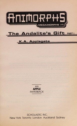 Animorphs Megamorphs #1-the Andalite's Gift by