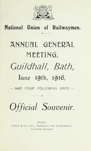 Cover of: Annual general meeting, Guildhall, Bath, June 19, 1916, and four following days