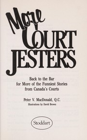 Cover of: More court jesters | Peter V. MacDonald