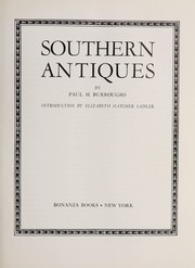 Cover of: Southern antiques | Paul H. Burroughs
