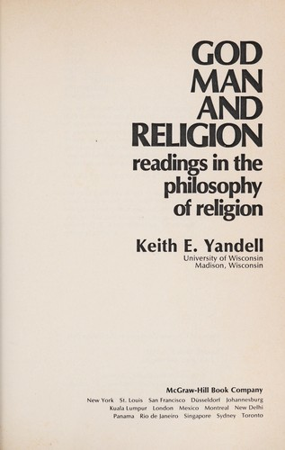 God, man, and religion by Keith E. Yandell