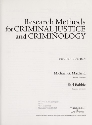 Research Writer for Criminal Justice CD-ROM by Michael G. Maxfield, Earl R. Babbie