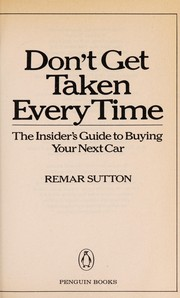 Cover of: Don't get taken every time | Remar Sutton