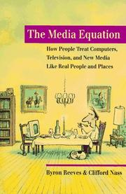 The media equation by Byron Reeves