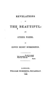 Revelations of the Beautiful and Other Poems.
