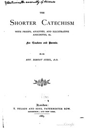 Cover of: The shorter catechism