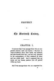 Cover of: Prophecy of the nineteenth century, tr. by L.A.