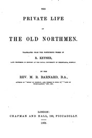 Cover of: The private life of the old Northmen