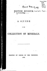 Cover of: A Guide to the Collection of Minerals