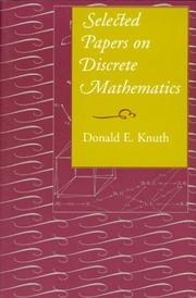 Cover of: Selected Papers on Discrete Mathematics