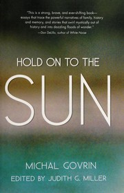 Cover of: Hold onto the sun | Michal Govrin