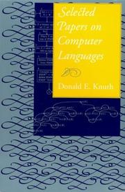 Cover of: Selected Papers on Computer Languages