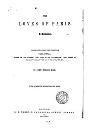 Cover of: The loves of Paris, tr. by J.W. Ross |