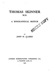 Cover of: Thomas Skinner, M.D.A. Biographical Sketch |