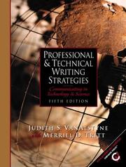 Professional and technical writing strategies by Judith S. VanAlstyne
