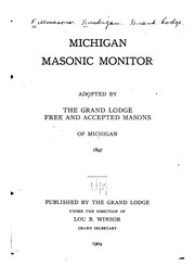 Cover of: Michigan Masonic Monitor |