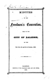 Cover of: Minutes of the Freedmen