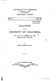 Cover of: Slavery in the District of Columbia | Mary Tremain