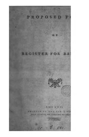 Cover of: Proposed form of register for baptisms |