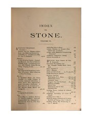 Cover of: Stone; an Illustrated Magazine |