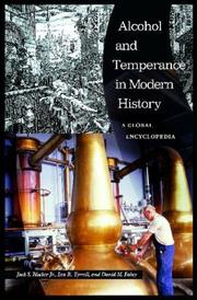 Cover of: Alcohol and temperance in modern history by