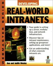 Cover of: Developing real-world intranets