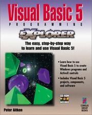 Cover of: Visual Basic 5 programming explorer