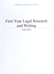 Cover of: First year legal research and writing | Lauralee Bielert