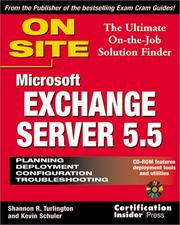 Cover of: Microsoft Exchange Server 5.5 on site | Shannon R. Turlington