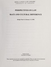 Cover of: Perspectives on law |