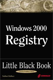 Cover of: Windows 2000 Registry Little Black Book