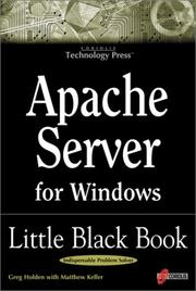 Cover of: Apache server for Windows: Little Black Book