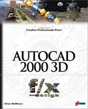Cover of: AutoCAD 2000 3D f/x and design