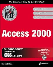 Cover of: MOUS Access 2000 Exam Prep | Lisa Friedrichsen