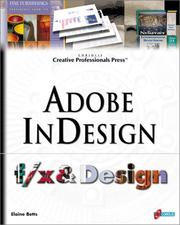 Cover of: Adobe InDesign f/x and Design