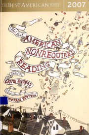 Cover of: The best American nonrequired reading 2007