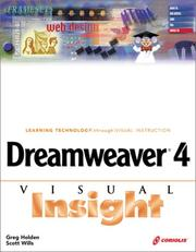 Cover of: Dreamweaver 4 Visual Insight