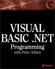Cover of: Visual Basic .NET programming, with Peter Aitken