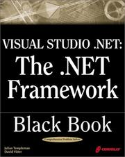Cover of: Visual Studio .NET