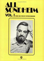 Cover of: All Sondheim, Volume 1