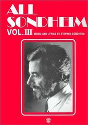 Cover of: All Sondheim, Volume 3 (All Sondheim)