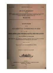 Cover of: Reports of the Harbour Commissioners for Montreal, Quebec, Three Rivers, Toronto, North Sydney ... |