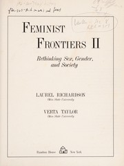 Cover of: Feminist frontiers II |