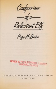 Cover of: Confessions of a reluctant elf | Page McBrier