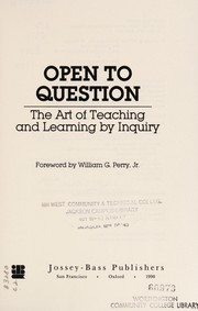Cover of: Open to question | Walter L. Bateman