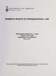 Cover of: Women's rights in transnational law