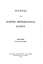 Cover of: Journal of the Scottish Meteorological Society